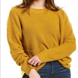 MADEWELL mustard color sweater size S